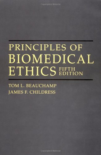 9780195143324: Principles of Biomedical Ethics, 5th edition