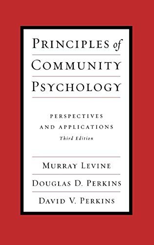 9780195144178: Principles of Community Psychology: Perspectives and Applications