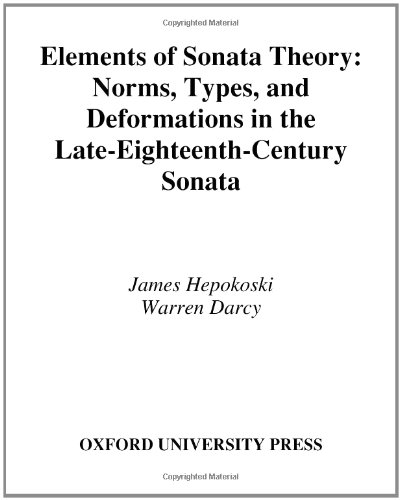 9780195146400: Elements of Sonata Theory: Norms, Types, and Deformations in the Late-Eighteenth-Century Sonata