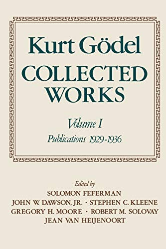 9780195147209: Collected Works: Volume I: Publications 1929-1936 (Collected Works (Oxford))
