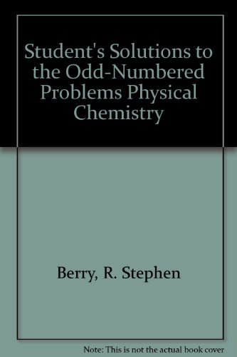9780195148602: Odd-Numbered Problems Physical Chemistry