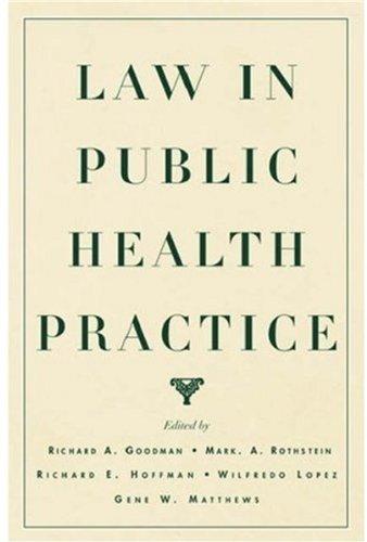 Law in Public Health Practice: Editor-Richard A. Goodman;