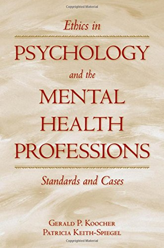 9780195149111: Ethics in Psychology and the Mental Health Professions: Standards and Cases (Oxford Textbooks in Clinical Psychology)