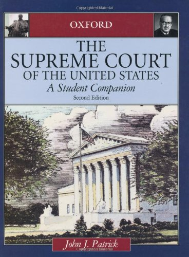 9780195150087: The Supreme Court of the United States: A Student Companion (Oxford Student Companions to American Government)