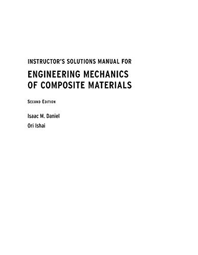 9780195150988: Instructor's Solutions Manual for Engineering Mechanics of Composite Materials