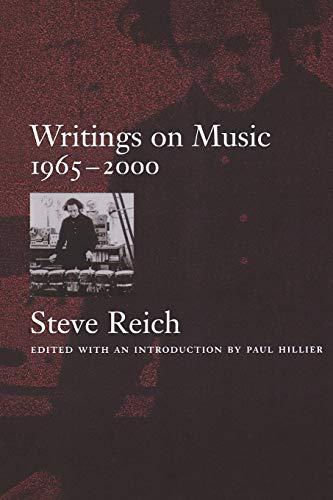 9780195151152: Writings on Music, 1965-2000