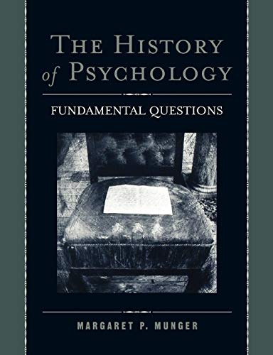 9780195151541: The History of Psychology: Fundamental Questions