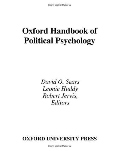 9780195152203: Oxford Handbook of Political Psychology (Oxford Handbooks)