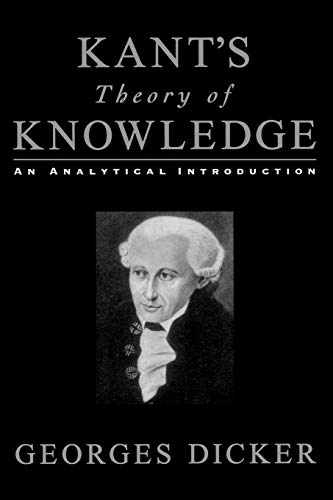 9780195153071: Kant's Theory of Knowledge: An Analytical Introduction