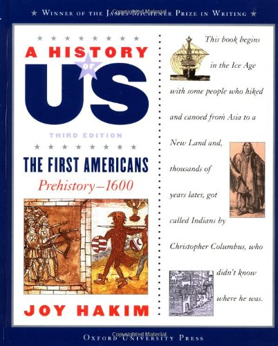 9780195153194: The First Americans, Third Edition: Prehistory-1600 (A History of US, Book 1)
