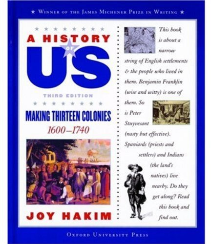 9780195153217: A History of US: Book 2: Making Thirteen Colonies 1600-1740
