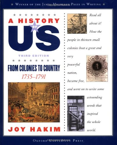 9780195153231: A History of US: Book 3: From Colonies to Country 1735-1791