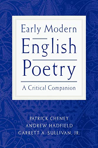 9780195153873: Early Modern English Poetry: A Critical Companion