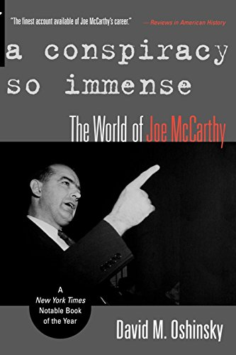 9780195154245: A Conspiracy So Immense: The World of Joe McCarthy