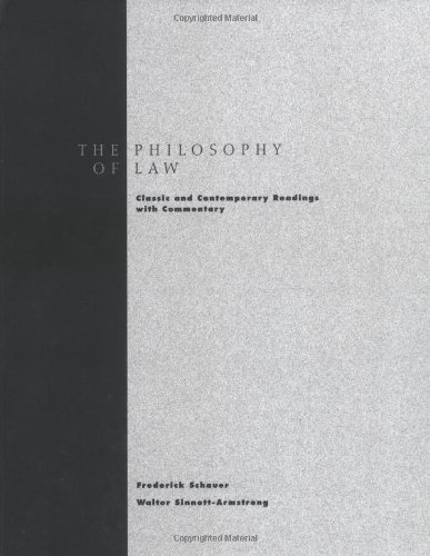 9780195155129: Philosophy of Law: Classic and Contemporary Readings with Commentary