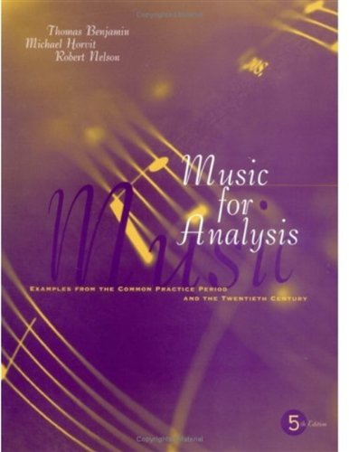 9780195155136: Music for Analysis: Examples from the Common Practice Period and the Twentieth Century