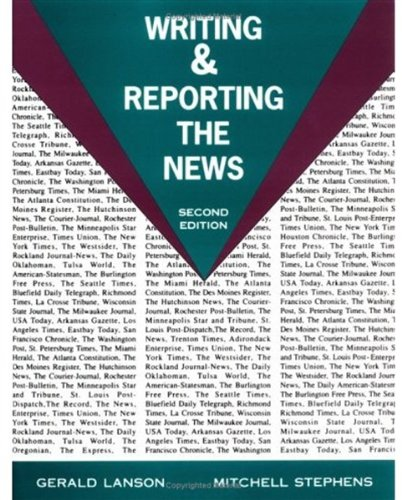 9780195155198: Writing and Reporting the News