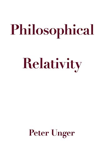 9780195155532: Philosophical Relativity