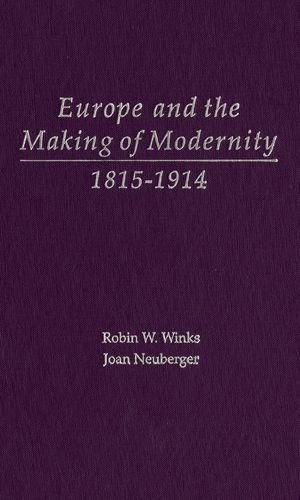 9780195156218: Europe and the Making of Modernity: 1815-1914