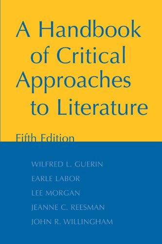 9780195160178: A Handbook of Critical Approaches to Literature
