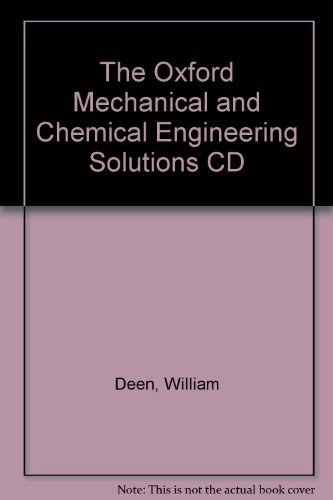 9780195161533: The Oxford Mechanical and Chemical Engineering Solutions CD