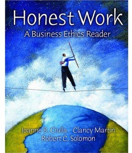 9780195161687: Honest Work: A Business Ethics Reader