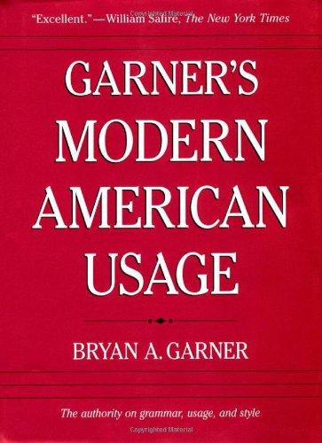 9780195161915: Garner's Modern American Usage