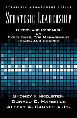 9780195162073: Strategic Leadership: Theory and Research on Executives, Top Management Teams, and Boards (Strategic Management Series)