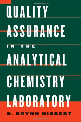 9780195162127: Quality Assurance in the Analytical Chemistry Laboratory