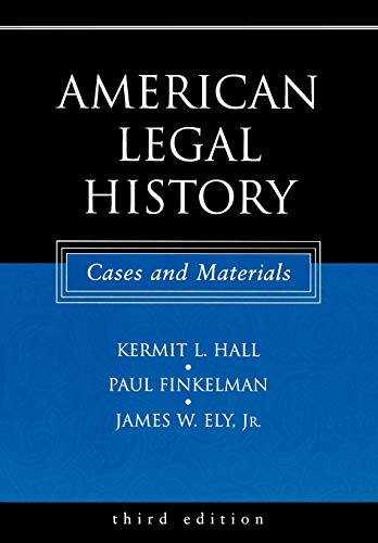 9780195162257: American Legal History: Cases and Materials