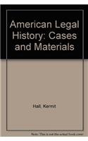 9780195162424: American Legal History: Cases and Materials