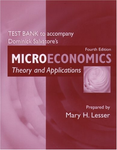9780195162905: Test Bank to Accompany Microeconomics: Theory and Applications