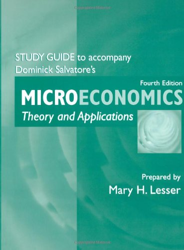 9780195162912: Study Guide to Accompany Microeconomics: Theory and Applications