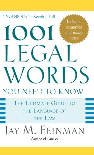 1001 Legal Words You Need to Know (1001 Words You Need to Know): Jay M. Feinman