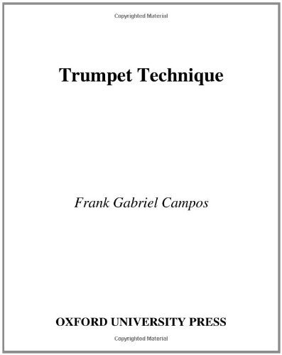 9780195166927: Trumpet Technique