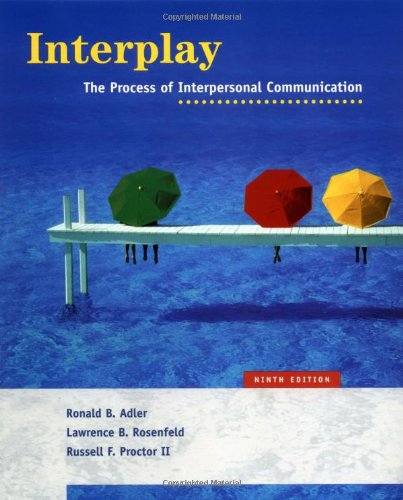 9780195167078: Interplay: The Process of Interpersonal Communication