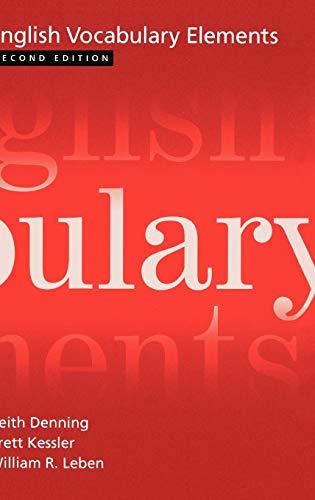 9780195168020: English Vocabulary Elements