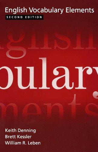 9780195168037: English Vocabulary Elements