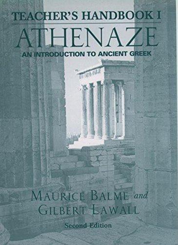 9780195168082: Teacher's Handbook for Athenaze: An Introduction to Ancient Greek