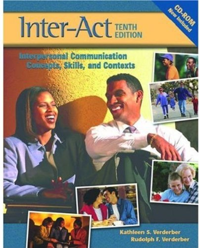 9780195169102: Verderber & Verderber's Inter-Act: Interpersonal Communication Concepts, Skills, and Contexts, Student Workbook