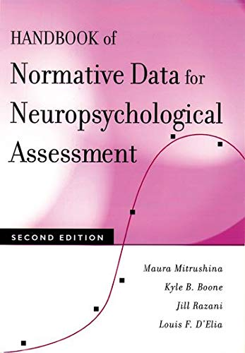 9780195169300: Handbook of Normative Data for Neuropsychological Assessment