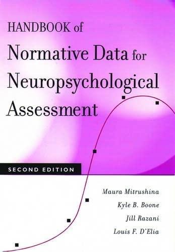 9780195169300: Handbook of Normative Data for Neuropsychological Assessment