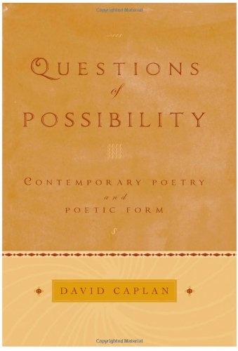 9780195169577: Questions of Possibility: Contemporary Poetry and Poetic Form