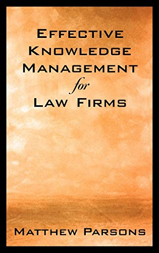 9780195169683: Effective Knowledge Management for Law Firms