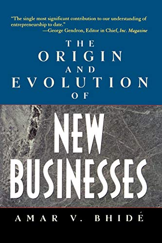 9780195170313: The Origin and Evolution of New Businesses