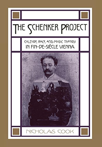 9780195170566: The Schenker Project: Culture, Race, and Music Theory in Fin-de-Siecle Vienna