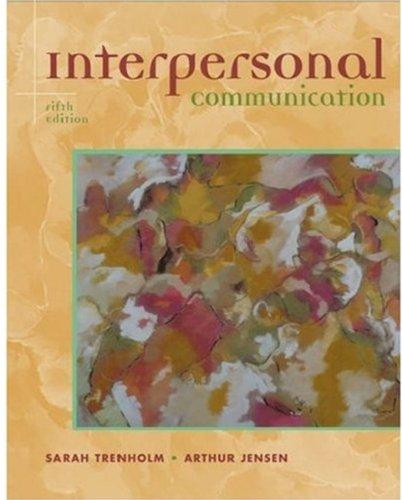 9780195170740: Interpersonal Communication