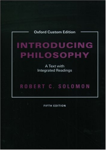 9780195171914: Introducing Philosophy: A Text with Integrated Readings (Oxford Custom Edition)