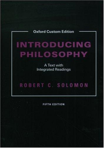 9780195171914: Introducing Philosophy, 5th edition: Custom edition (Oxford Custom Edition)