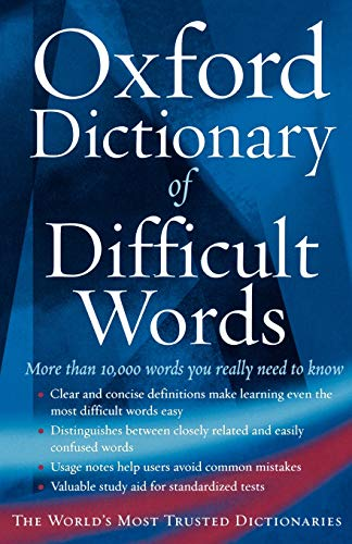 9780195173284: The Oxford Dictionary of Difficult Words
